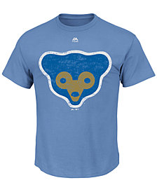 Majestic Men's Chicago Cubs Cooperstown Legacy Logo T-Shirt