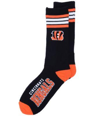 16e1d782 Cincinnati Bengals 4 Stripe Deuce Crew 504 Sock
