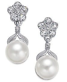 Silver-Tone Imitation Pearl Post Earrings, Created for Macy's