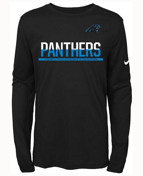 d0ca15575 Nike Kids  Carolina Panthers Team Practice Long-Sleeve T-Shirt