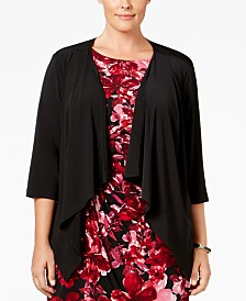 Connected Plus Size Cardigan Sweater