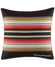 "CLOSEOUT! Tommy Bahama Home Jungle Drive Stripe 18"" Square Decorative Pillow"