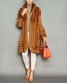 Shawl-Collar Mink Fur Coat