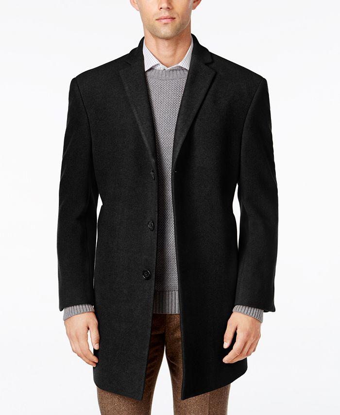 Calvin Klein - Men's Prosper Extra-Slim Fit Overcoat