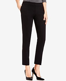Petite Textured Ankle Pants