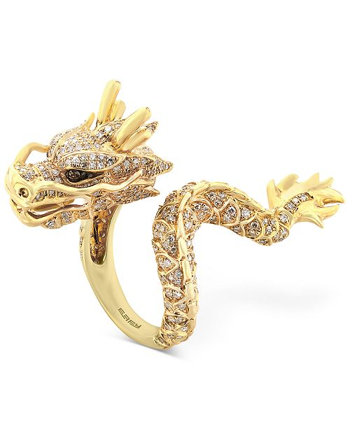 EFFY Collection EFFY® Diamond Dragon Ring  (1 ct. t.w.) in 14k Gold