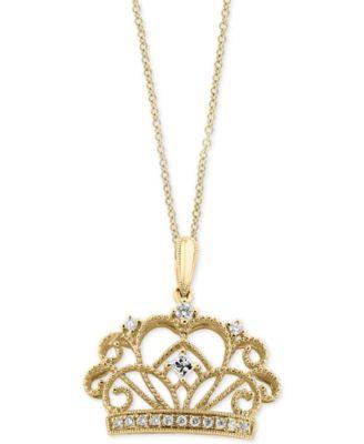 14k Rose Gold Crown Pendant