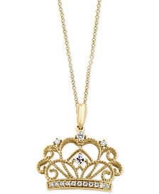 EFFY® Diamond Crown Pendant Necklace (1/8 ct. t.w.) in 14k Gold