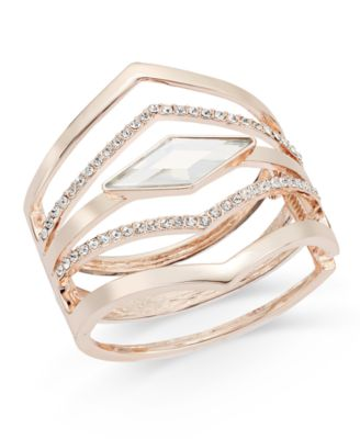 Image of INC International Concepts Multi-Row Pointed Crystal Bangle Bracelet, Only at Macy's