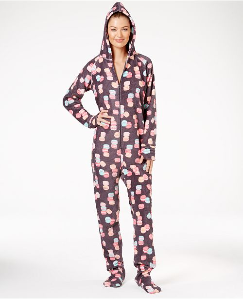 Jenni by Jennifer Moore Hooded and Footed Pajamas, Created for Macy's