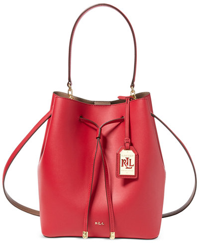 Lauren Ralph Lauren Debby Leather Drawstring Bag