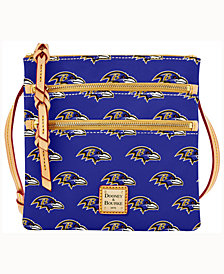 Dooney & Bourke Baltimore Ravens Triple-Zip Crossbody Bag