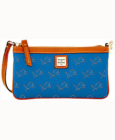 Dooney & Bourke Detroit Lions Large Slim Wristlet