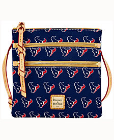 Dooney & Bourke Houston Texans Triple-Zip Crossbody Bag