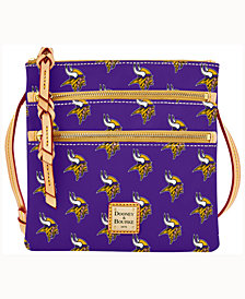 Dooney & Bourke Minnesota Vikings Triple-Zip Crossbody Bag