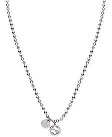 Gucci Women's Sterling Silver Boule Chain Charm Necklace YBB39099200100U