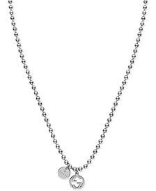 Gucci Women's Sterling Silver Boule Chain Charm Necklace YBB39099200100U