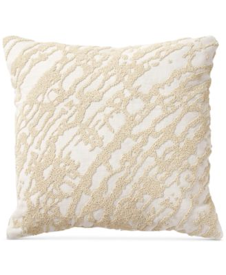 "Rhythm Ivory 14"" Square Decorative Pillow"