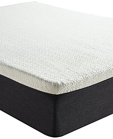 "Sleep Trends Ladan 12"" Cool Gel Memory Foam Plush Mattress, Quick Ship, Mattress in a Box- King"