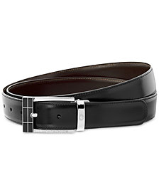 Montblanc Men's Reversible Black/Brown Calfskin Leather Pin Buckle Belt 101899
