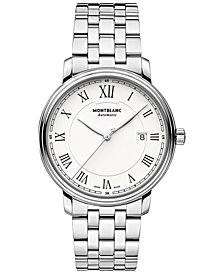 Montblanc Men's Swiss Automatic Tradition Stainless Steel Bracelet Watch 40mm 112610