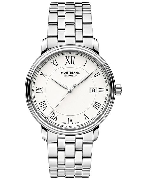 e21aef1723c ... Montblanc Men s Swiss Automatic Tradition Stainless Steel Bracelet Watch  40mm 112610 ...