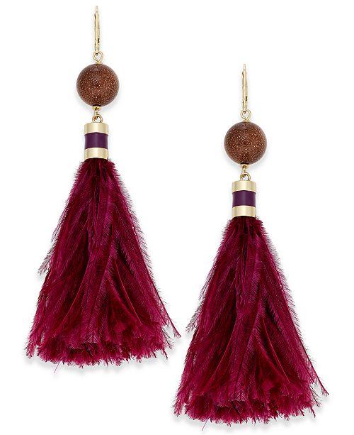 kate spade new york Gold-Tone Silk Tassel Earrings