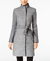 6a43fe5fa50db Vince Camuto Twill Cool Faux-Leather-Trim Coat