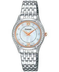 Pulsar Women's Stainless Steel Bracelet Watch 28mm PM2235