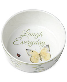 Lenox Butterfly Meadow Everyday Celebrations Laugh Everyday Bowl