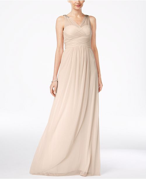 3bdbce07c867 Adrianna Papell Ruched Embellished Gown & Reviews - Dresses - Women ...