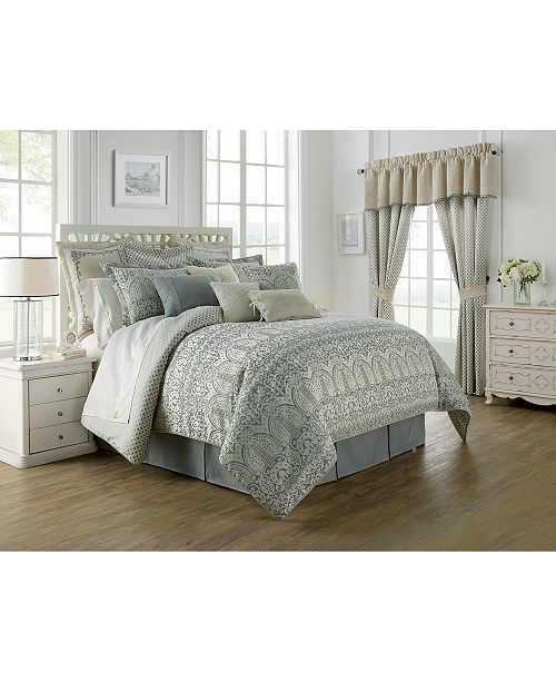 Waterford Allure Slate Gray Reversible California King 4 Pc Comforter Set Bedding Collections Bed Bath Macy S