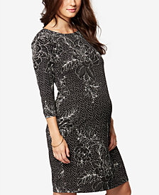 Taylor Maternity Printed Sheath Dress