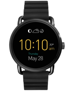 Fossil Q Wander Black Silicone Strap Touchscreen Smart Watch