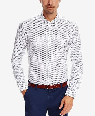 BOSS Men's Slim-Fit Patterned Button-Down Shirt - Casual Button ...