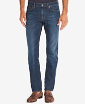 04728d98c BOSS Men's Regular/Classic-Fit Dark Wash Whiskered Jeans
