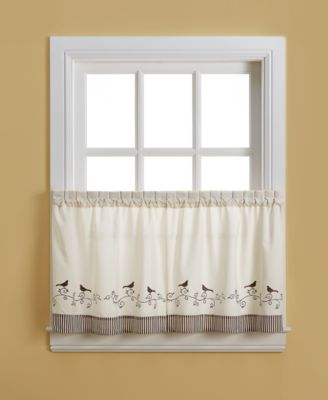 "Birds 58"" x 24"" Pair of Tier Curtains"