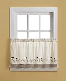 "Birds 58"" x 24"" Pair of Tier Curtains"