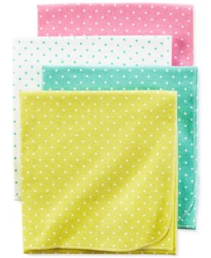 Carter's 4-Pk. Dot-Print Blankets, Baby Girls