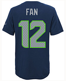Nike Fan #12 Seattle Seahawks Pride Player T-Shirt, Big Boys (8-20)