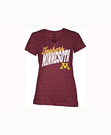 Pressbox Women's Minnesota Golden Gophers Gander V-Neck T-Shirt