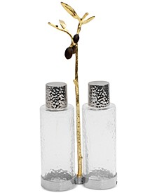 Olive Branch Gold Cruet Set