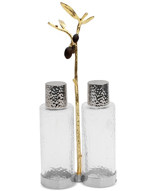 Michael Aram Olive Branch Gold Cruet Set