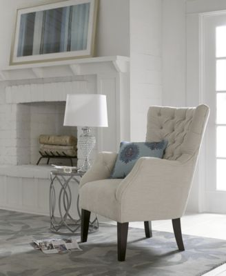 ... Madison Park Adelyn Button Tufted Wing Back Chair, Quick Ship ...