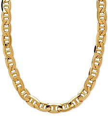 "22"" Beveled Marine Link Chain Necklace (7-1/5mm) in 10k Gold"