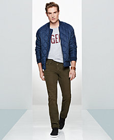 WILLIAM RAST Men's Quilted Jacket, Graphic T-Shirt & Twill Pants