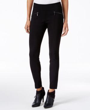 Bar Iii Zip-Pocket Pull-On Skinny Pants, Created for Macy's