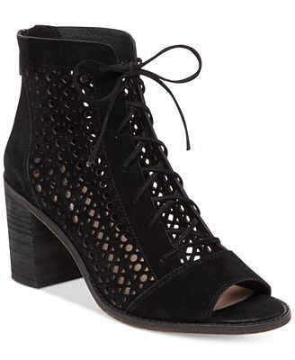 Vince Camuto Trevan Perforated Booties - Boots - Shoes - Macy\'s