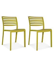 Lama Set of 2 Indoor/Outdoor Chairs, Quick Ship
