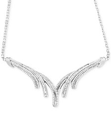 Wrapped in Love™ Diamond V Necklace (1 ct. t.w.) in Sterling Silver, Created for Macy's